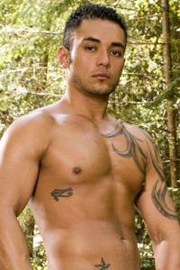 male muscle porn star: Damian Rios, on hotmusclefucker.com
