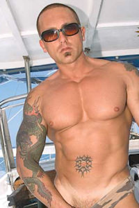 male muscle porn star: Cannon Lee, on hotmusclefucker.com
