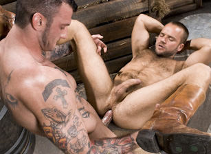 gay muscle porn clip: Roll In The Hay - David Novak & Ricky Sinz, on hotmusclefucker.com