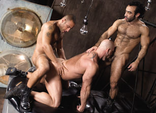 gay muscle porn clip: Roid Rage - Huessein & Piero Sias & Shane Alexander, on hotmusclefucker.com