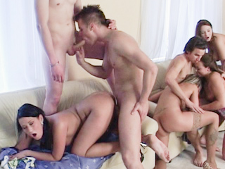 creampie orgy videos