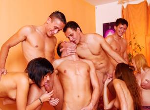 Bisex Creampie Orgy #03, Scene #01