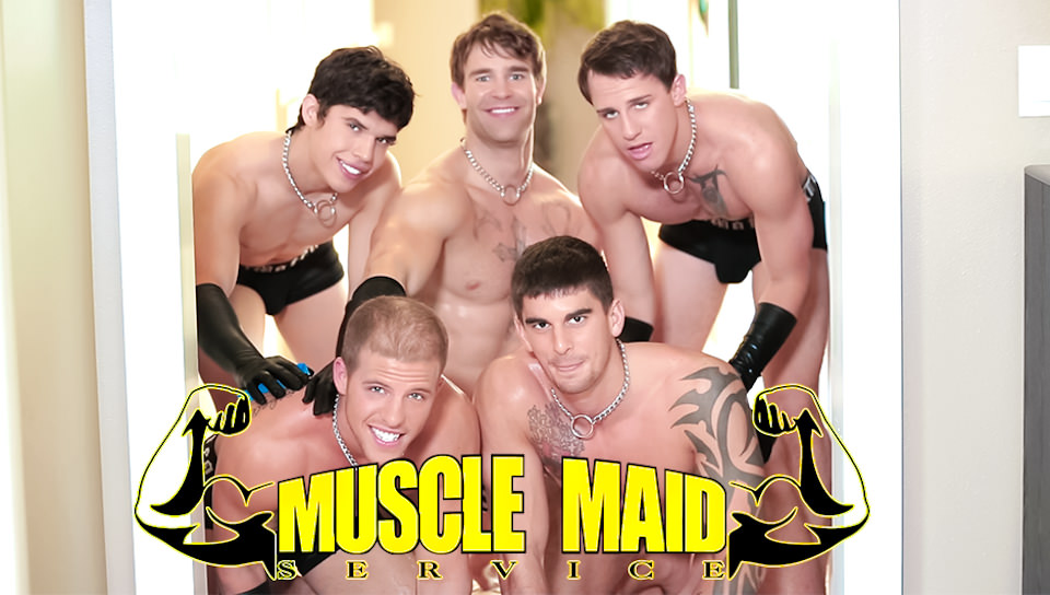 Muscle Maid Services – Tyler Torro, Taylor Wolf, Christian Cayden, Conner Hastings, Hugh Jazz (NextDoorBuddies.com)