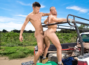 gay muscle porn clip: Open Road - Part 2 - Donnie Dean & Esteban Del Toro, on hotmusclefucker.com