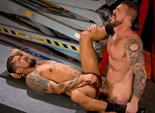 gay muscle porn clip: Clusterfuck! 2 - Boomer Banks & Rocco Steele, on hotmusclefucker.com