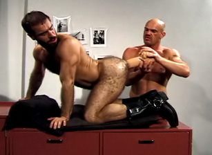 gay muscle porn clip: Ass On The Line - Lance Gear & Mark Evrett, on hotmusclefucker.com