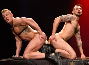 gay muscle porn clip: Labyrinth - Chris Harder & Johnny V, on hotmusclefucker.com