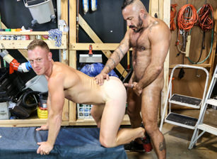 gay muscle porn clip: Maintenance Fuckers Part 2 - Alessio Romero & Saxon West, on hotmusclefucker.com