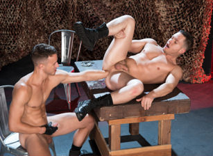 gay muscle porn clip: Full Fist Interrogation - Ashley Ryder & Nate Grimes, on hotmusclefucker.com