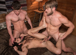gay muscle porn clip: Trapped - Colby Keller & Kurtis Wolfe & Tegan Zayne, on hotmusclefucker.com