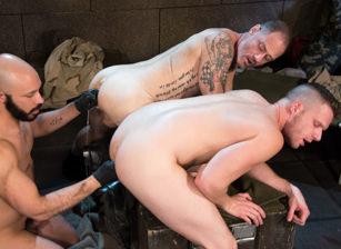 gay muscle porn clip: Arm-ageddon - Brian Bonds & D Arclyte & Dylan Strokes, on hotmusclefucker.com