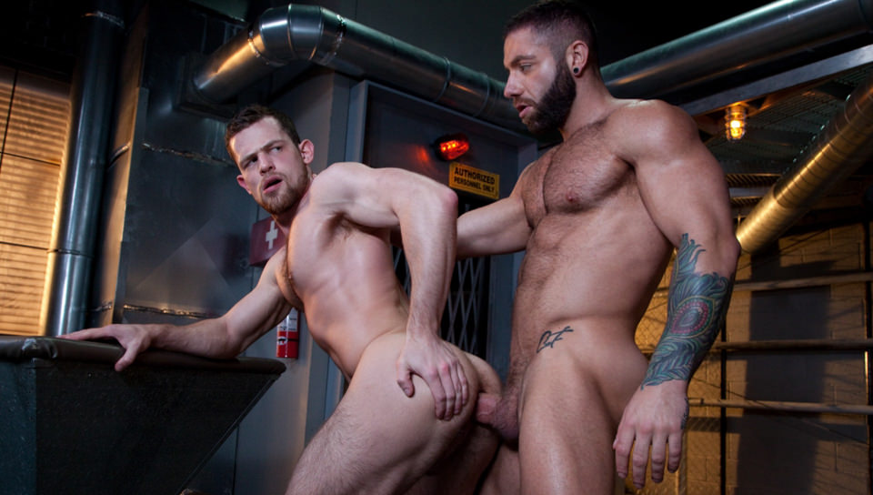 69181 01 01 - Eddy Ceetee lies back with his legs wide open inviting Kurtis Wolfe to stick his huge dick deep inside