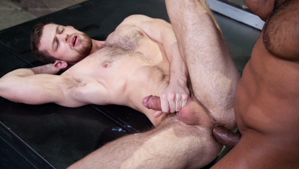 69181 02 01 - Jay Landford takes his time licking Kurtis Wolfe's hole going deep with his fingers and tongue