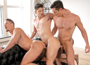 gay muscle porn clip: Love and Lust in Montreal - Devin Franco & Skyy Knox & Steven Lee, on hotmusclefucker.com