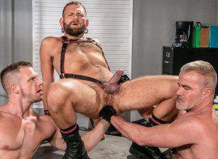 gay muscle porn clip: FFPD - Fist Fuck Police Department - Brian Bonds & Dale Savage & Josh Mikael, on hotmusclefucker.com