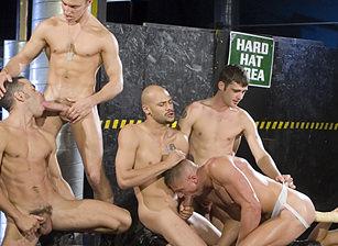 Kent North & Fredrick Ford & Jason Crew & Justin Gemini & Ricky Martinez & Rick Gonzalez in Pack Attack 1: Kent North   hotmusclefucker.com