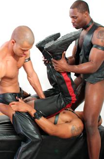 scott alexander gay porn Madman Ricky Sinz  torments Tyler Alexander and Morgan Black deep in the woods.